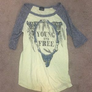 Young and free shirt